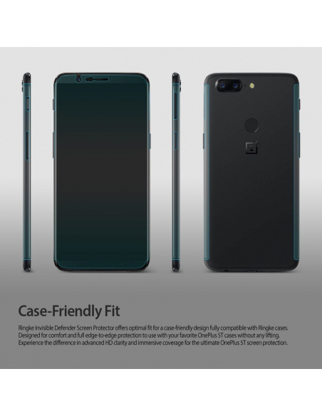 Folia Ringke Invisible Defender OnePlus 5T Case Friendly