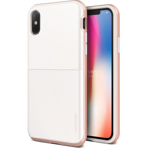 Etui VRS Design High Pro Shield S iPhone X White Rose
