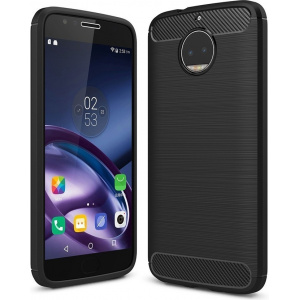 HS Case SOLID TPU Moto G5S Black + Screen protector