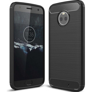 HS Case SOLID TPU Moto X4 Black + Screen protector