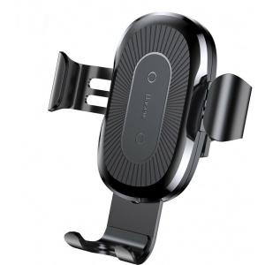 Uchwyt samochodowy Baseus Wireless Charger Gravity Car Mount Black