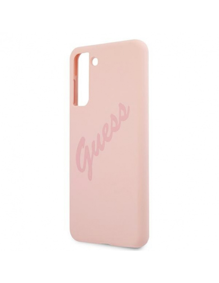 Guess GUHCS21SLSVSPI Samsung Galaxy S21 pink hardcase Script Vintage