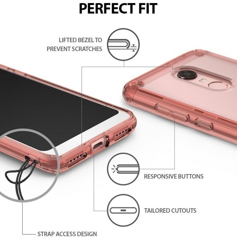 Etui Ringke Fusion Xiaomi Redmi 5 Plus Rose Gold