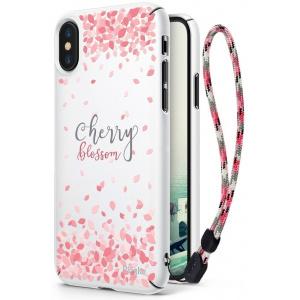 Etui Ringke Slim Cherry Blossom iPhone X White
