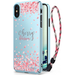 Etui Ringke Slim Cherry Blossom iPhone X Sky Blue