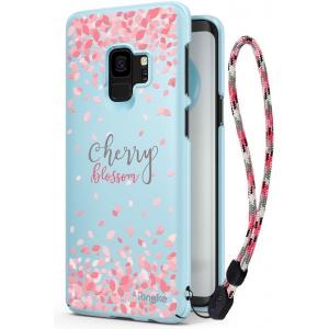 Etui Ringke Slim Cherry Blossom Samsung Galaxy S9 Sky Blue
