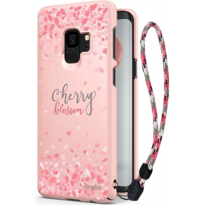 Etui Ringke Slim Cherry Blossom Samsung Galaxy S9 Peach Pink