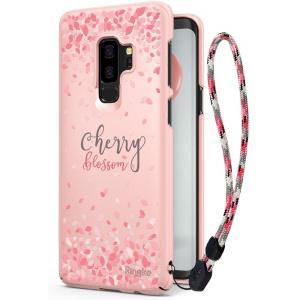 Etui Ringke Slim Cherry Blossom Samsung Galaxy S9 Plus Peach Pink