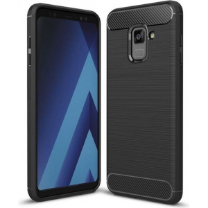HS Case SOLID TPU Samsung Galaxy A6 2018 Black + Screen Protector
