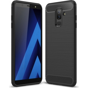 Etui HS Case SOLID TPU Samsung Galaxy A6 Plus 2018 Black + Szkło