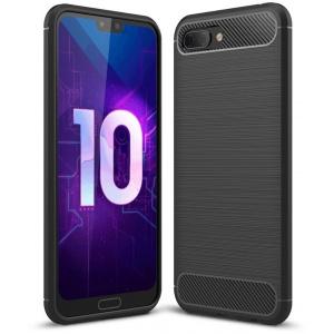 Etui HS Case SOLID TPU Huawei Honor 10 Black + Szkło
