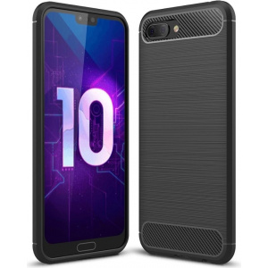 HS Case SOLID TPU Huawei Honor 10 Black + Screen Protector