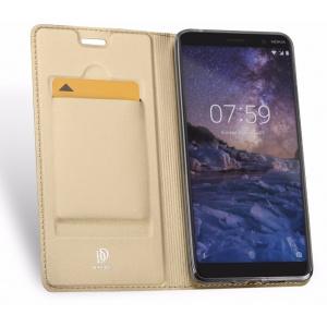 Etui DuxDucis SkinPro Nokia 7 Plus Gold + Szkło