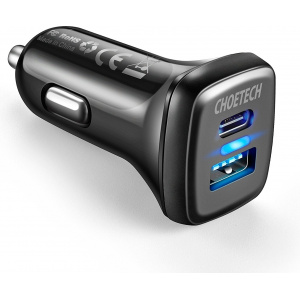 Choetech Car Charger QC3 & USB-C 36W