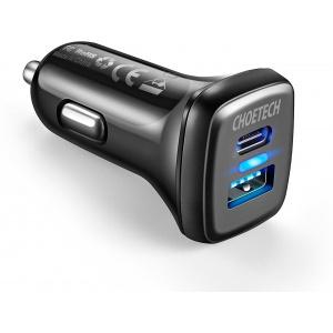 Ładowarka samochodowa Choetech Car Charger QC3 & USB-C 36W