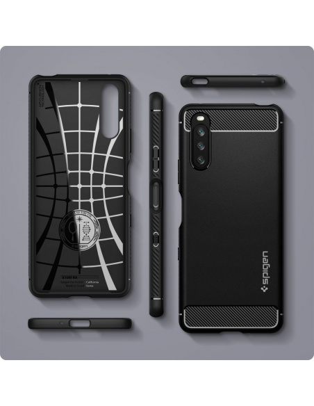 Spigen Rugged Armor Sony Xperia 10 III Matte Black