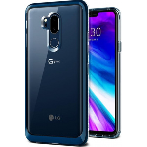Etui VRS Design Crystal Bumper LG G7 ThinQ Blue