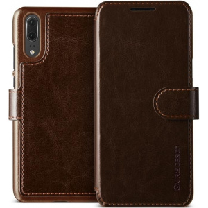 Etui VRS Design Layered Dandy Huawei P20 Brown