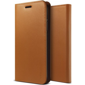 Etui VRS Design Genuine Leather Diary iPhone X Brown