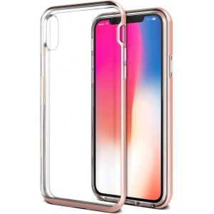VRS Design Crystal Bumper iPhone X Rose Gold