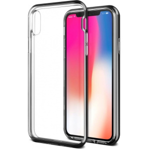 VRS Design Crystal Bumper iPhone X Metallic Black