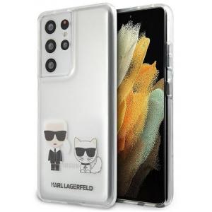 Karl Lagerfeld KLHCS21LCKTR Samsung Galaxy S21 Ultra hardcase Transparent Karl & Choupette