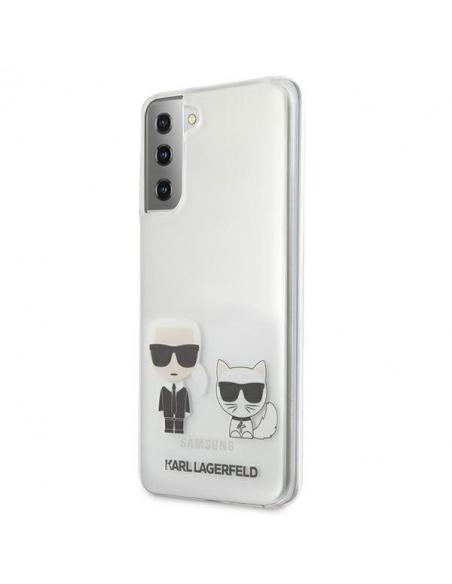 Karl Lagerfeld KLHCS21MCKTR Samsung Galaxy S21+ Plus hardcase Transparent Karl & Choupette