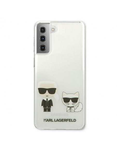 Karl Lagerfeld KLHCS21SCKTR Samsung Galaxy S21 hardcase Transparent Karl & Choupette