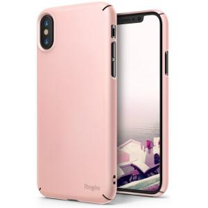Etui Ringke Slim iPhone X Peach Pink