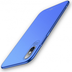 Etui MSVII iPhone XS/X 5.8 Blue + Szkło