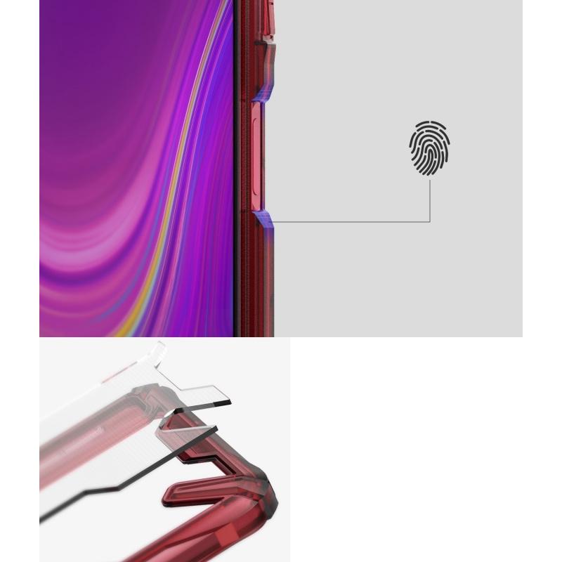 Etui Ringke Fusion-X Samsung Galaxy A7 2018 Ruby Red