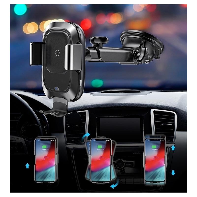 Uchwyt samochodowy z ładowarką indukcyjną Baseus Intelligent Auto Lock Dashboard