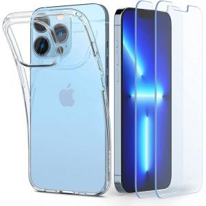 Etui Spigen Crystal Pack Apple iPhone 13 Pro Max Crystal Clear + Szkło
