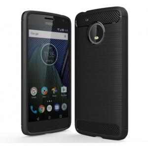Etui HS Case SOLID TPU Moto G5 Plus Black + Szkło