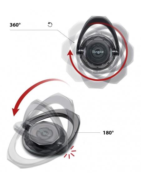 2 uchwyty Ringke Prism Ring Clear + Smoke Black