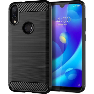 HS Case SOLID TPU Redmi Note 7 Black + Screen protector