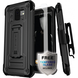 Etui Ghostek Iron Armor 2 Samsung Galaxy A6 2018 Black + Szkło