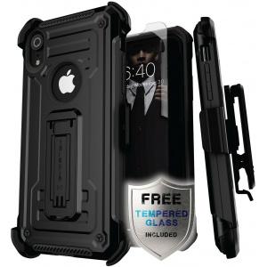 Etui Ghostek Iron Armor 2 iPhone XR 6.1 Black + Szkło