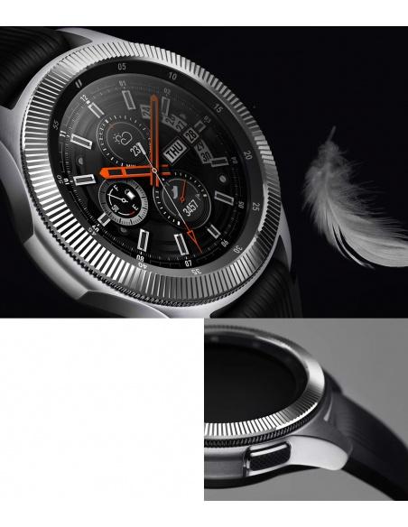 Nakładka na tachymetr Ringke Samsung Galaxy Gear S3/Watch 46mm stal nierdzewna prążkowana srebrna GW-46-12
