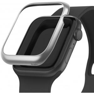 Nakładka Ringke Bezel Styling Apple Watch 4 44mm stal nierdzewna Matte Silver AW4-44-09