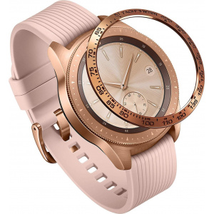 Nakładka na tachymetr Ringke Samsung Galaxy Sport/Watch 42mm stal nierdzewna złota GW-42-05