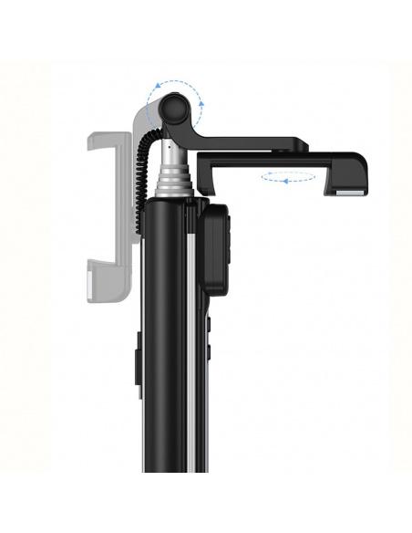 Kijek do selfie Benks Selfie Stick Z07 (selfie stick, statyw, lampy doświetlające) Black