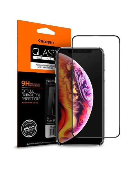 Szkło hartowane Spigen GLAS.tR TC 3D Full Cover Case Friendly iPhone 11/iPhone XR