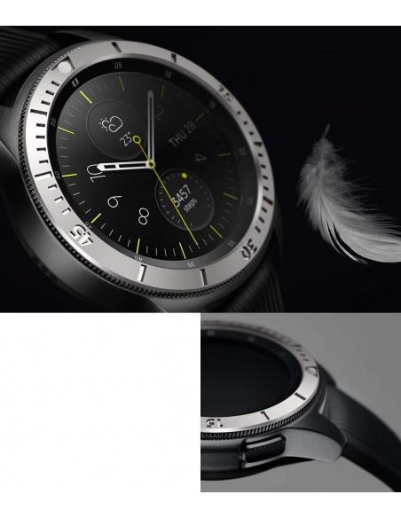 Nakładka na tachymetr Ringke Samsung Galaxy Sport/Watch 42mm stal nierdzewna srebrna GW-42-02