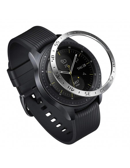 Nakładka na tachymetr Ringke Samsung Galaxy Sport/Watch 42mm stal nierdzewna srebrna błyszcząca GW-42-01