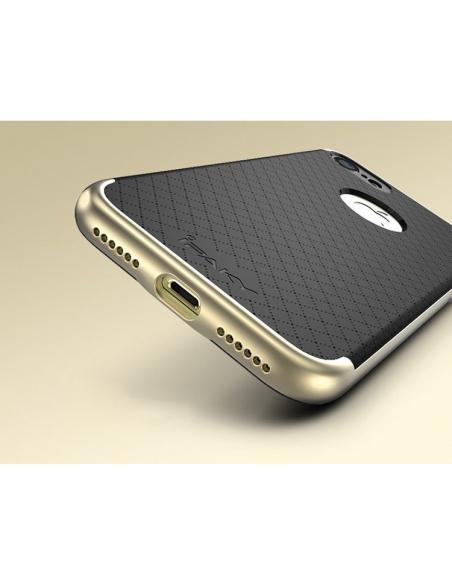 iPaky Premium Hybrid iPhone 7 Gray + Glass Screen Protector