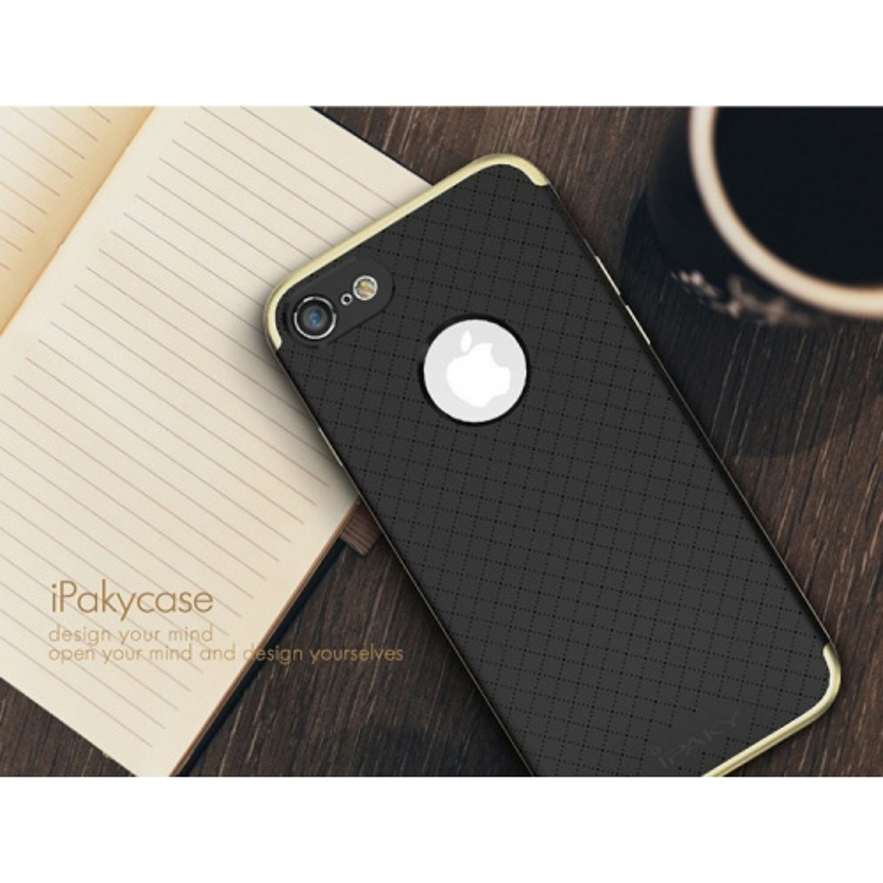 Etui iPaky Premium Hybrid iPhone 7 Gray + Szkło