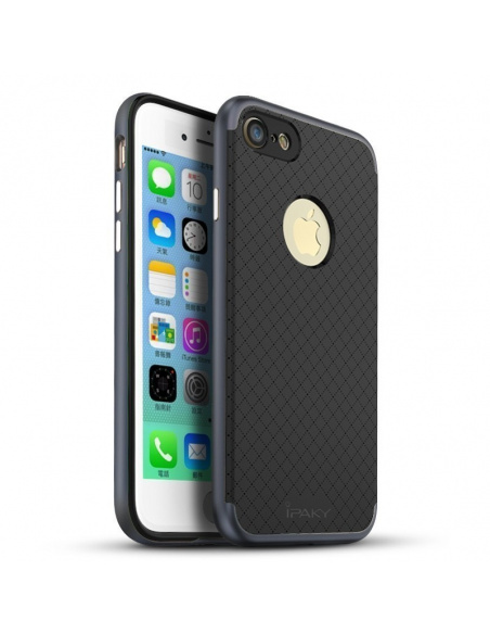 iPaky Premium Hybrid iPhone 8/7 Gray + Screen protector