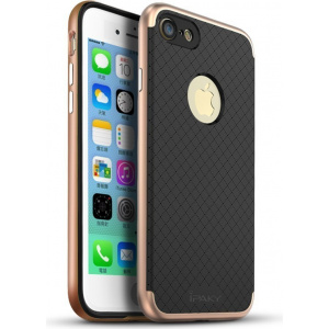 iPaky Premium Hybrid iPhone 8/7 Rose Gold + Screen protector
