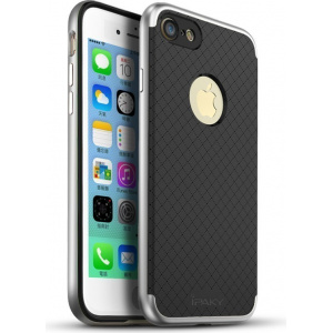 Etui iPaky Premium Hybrid iPhone 7 Silver + Szkło